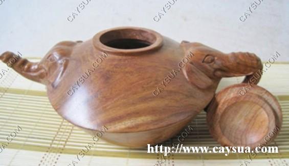 Ấm pha trà được làm từ cây gỗ sưa [sản phẩm làm từ gỗ sưa đỏ]