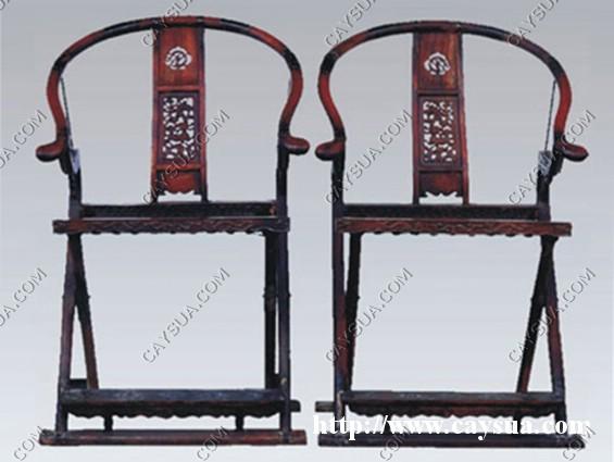 Đôi ghế cổ xưa được làm từ gỗ sưa đỏ [sản phẩm làm từ gỗ sưa đỏ]